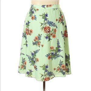 ModCloth Floral Skirt